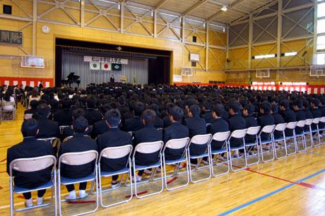 松山中学校入学式