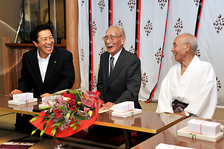 野村瓊太郎様100歳のお祝い