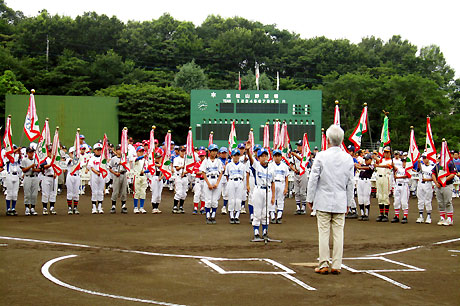 比企郡・市野球スポーツ少年団夏季東松山大会開会式